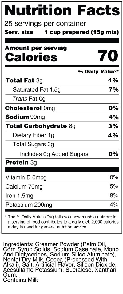 calorie-control-hot-chocolate-mix-nutrition-facts