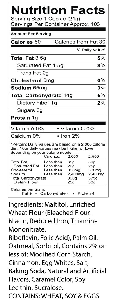 darlington-farms-cookies-oatmeal-nutrition-facts